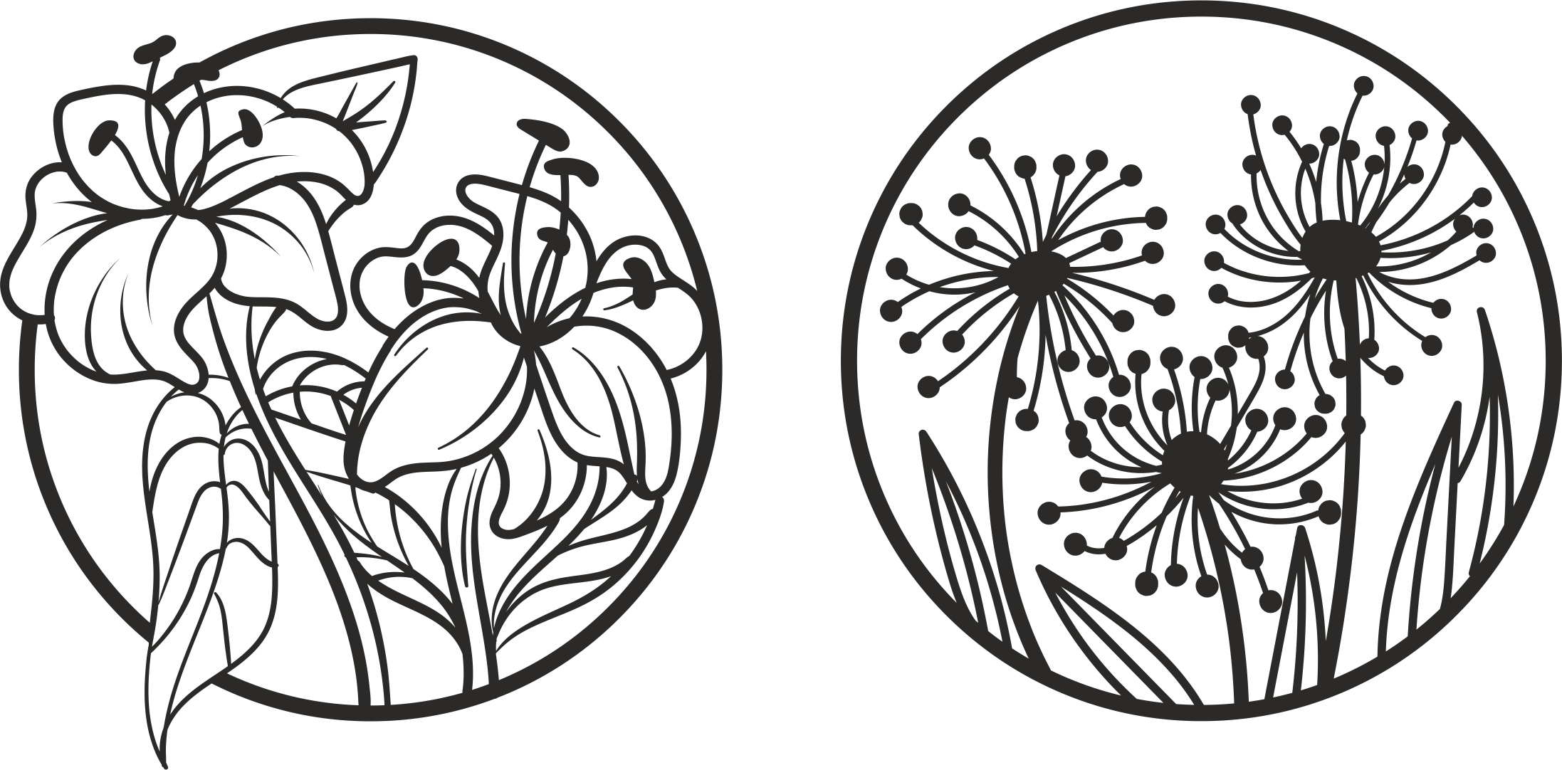 Laser Cut Engraving Floral Designs Free Vector