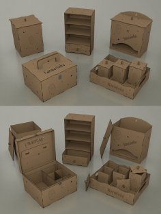 Laser Cut Dollhouse Furniture Kit Free Vector
