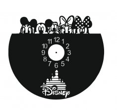 Laser Cut Walt Disney Vinyl Clock Template Free Vector