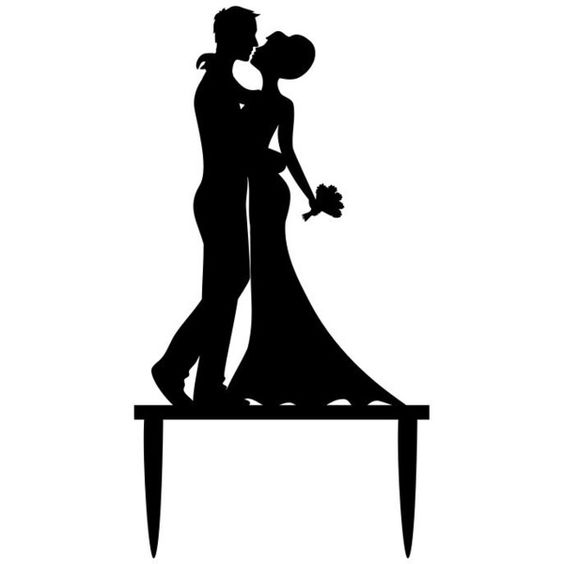 Laser Cut Wedding Cake Topper Bride And Groom Silhouette Cake Decorations Free Vector