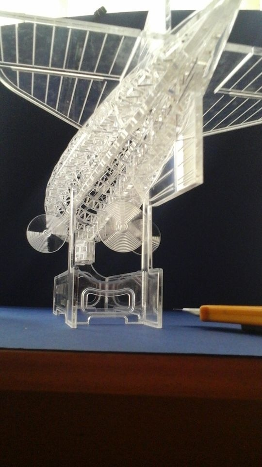 Laser Cut Airship Model 3D Puzzle DXF File