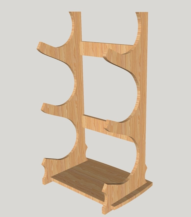 Laser Cut Wine Stand Wine Bottle Holder Wine Rack Free Vector