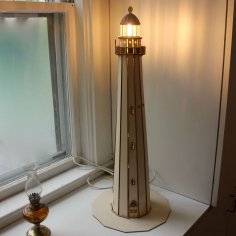 Laser Cut Lighthouse Lamp Free Vector