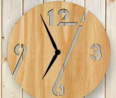 Laser Cut Plywood Wall Clock Free Vector