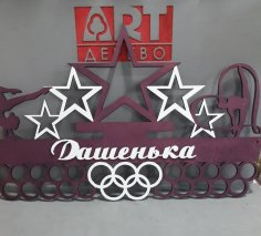 Laser Cut Medal Hanger Football Free Vector