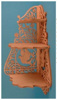 Scroll Saw Corner Shelf Plans PDF File