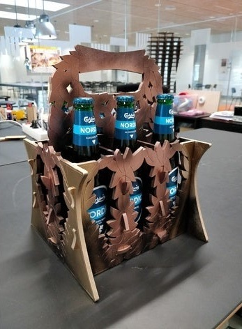 Laser Cut Beer Caddy Free Vector