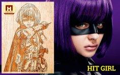 Laser Engraved Hit-Girl Free Vector