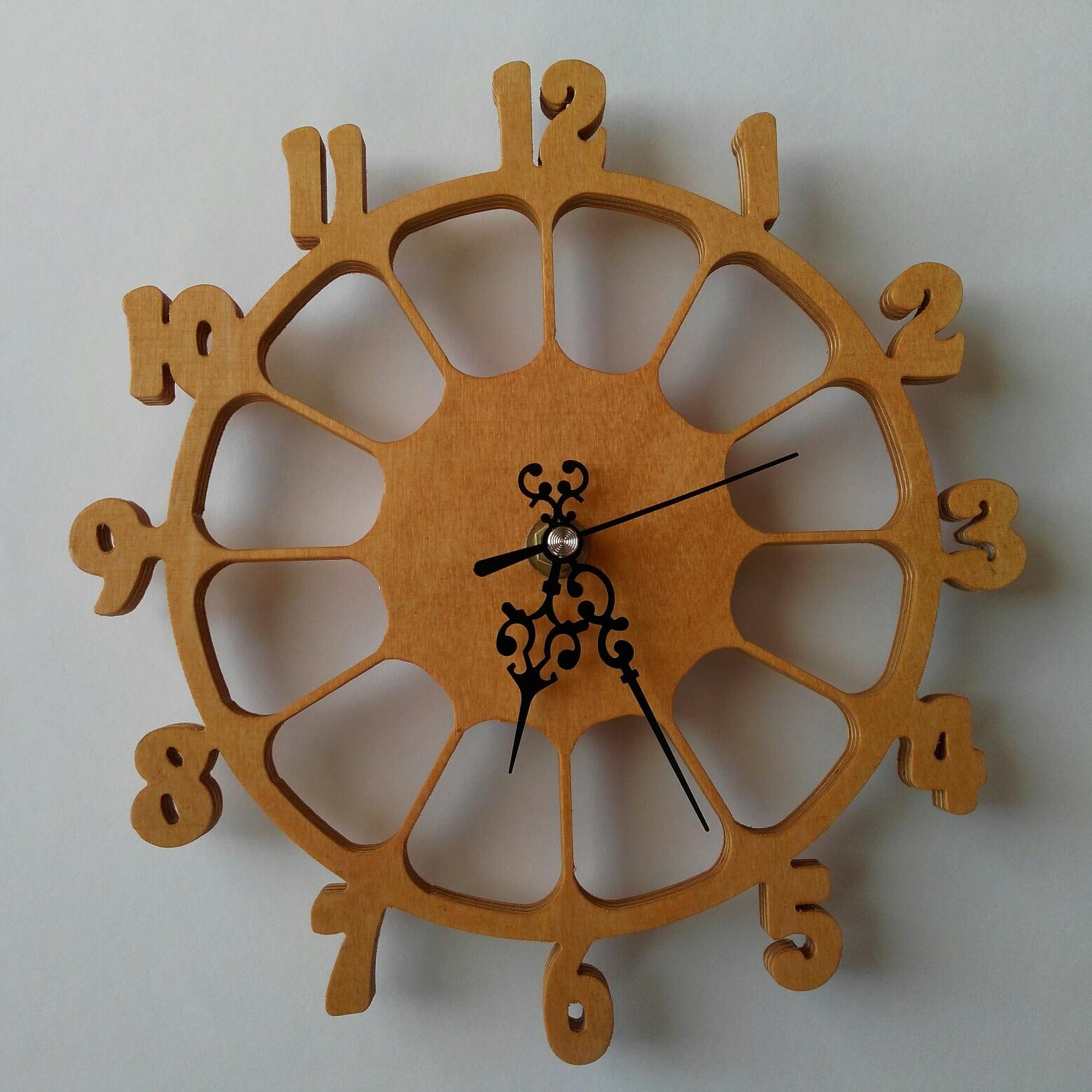 Laser Cut Wall Clock CNC Template DXF File