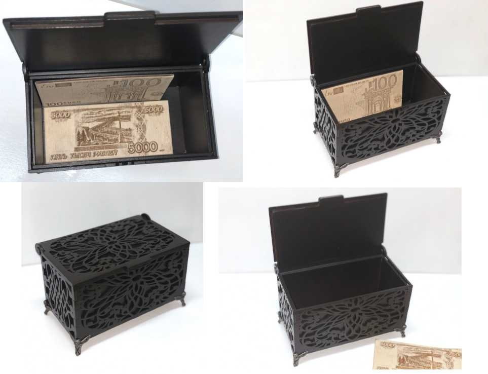 Laser Cut Carved Wooden Box Template Free Vector