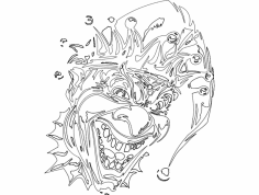 Clown 005 Mask dxf File