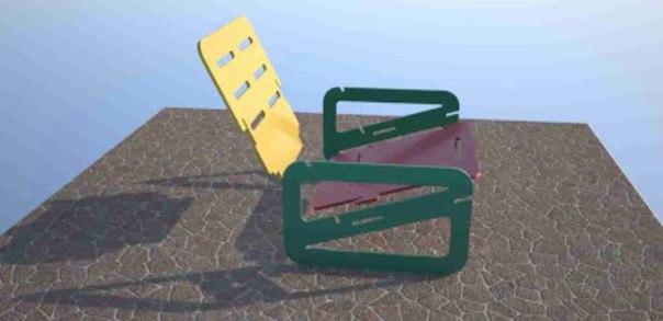 Laser Cut Chair Free Vector