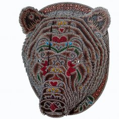 Bear 3D Puzzle DXF File