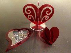 A Heart Decoration Laser Cut