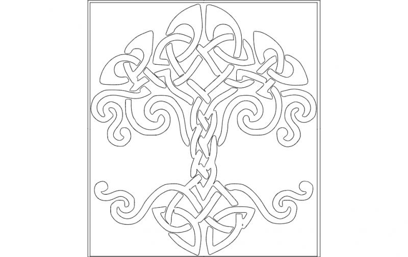Celtictree dxf File