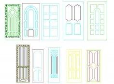 Panel Doors Design Free Vector