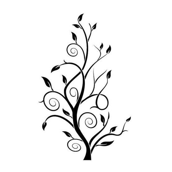 Simple Tree Stencil Vector Art jpg Image
