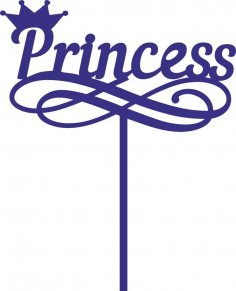 топпер принцесса Free Vector