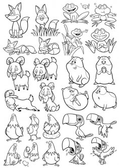 Cartoon Animals Vector Pack