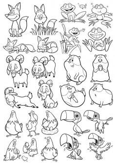 Cartoon Animals Vector Pack Free Vector