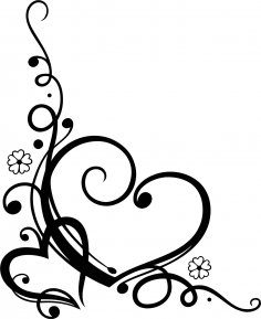 Love Heart Floral Vector Free Vector