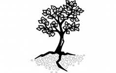 Tree Silhouette Vector dxf File