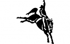 Rodeo Silhouette 4 dxf File