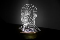 Head 3D LED Night Light Free Vector