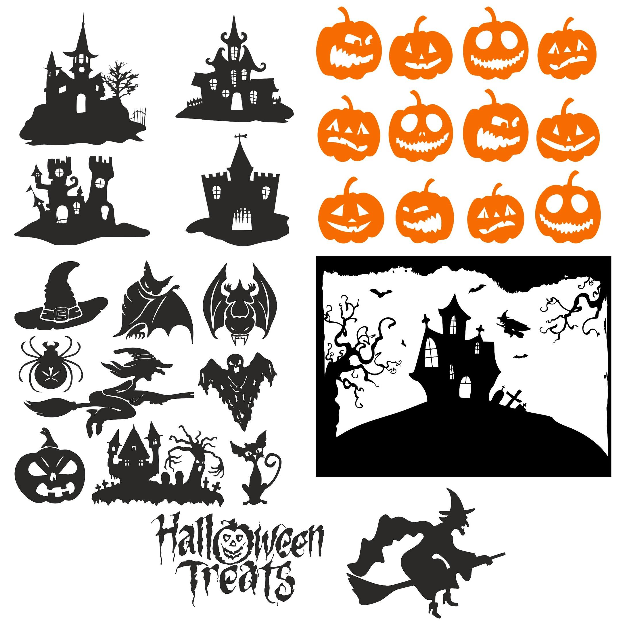 Halloween vectors Free Vector