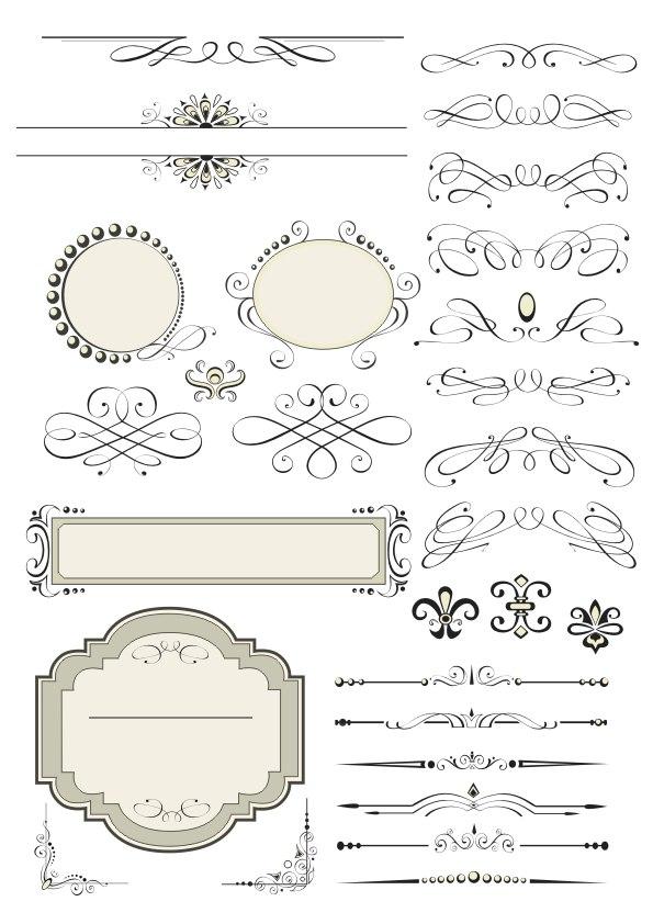 Vector Decorative Design Elements Page Decor Free Vector