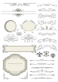 Vector Decorative Design Elements Page Decor Free Vector