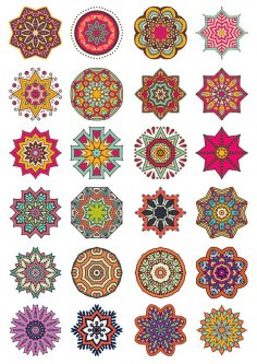 Decorative Elements and Ornaments Vector Set Free Vector