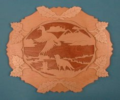 Hunter Wall Plate Scroll Saw Pattern PDF File