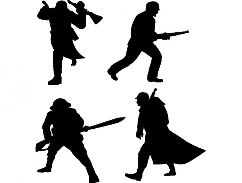 Soldier Silhouette dxf File