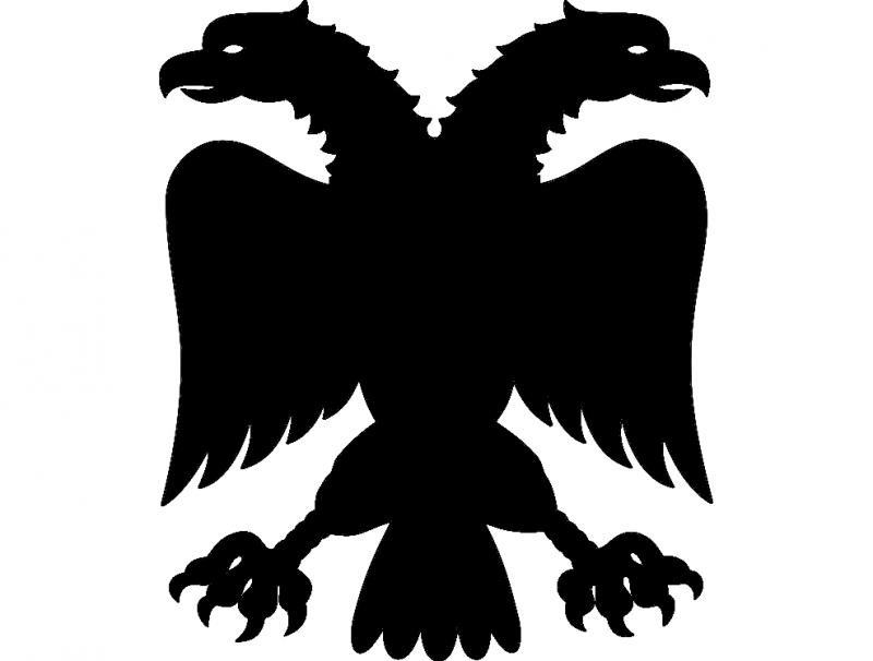 Adler 2kopf dxf File