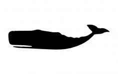 Sperm whale silhouette dxf File