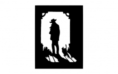 Cowboy Shadow dxf File
