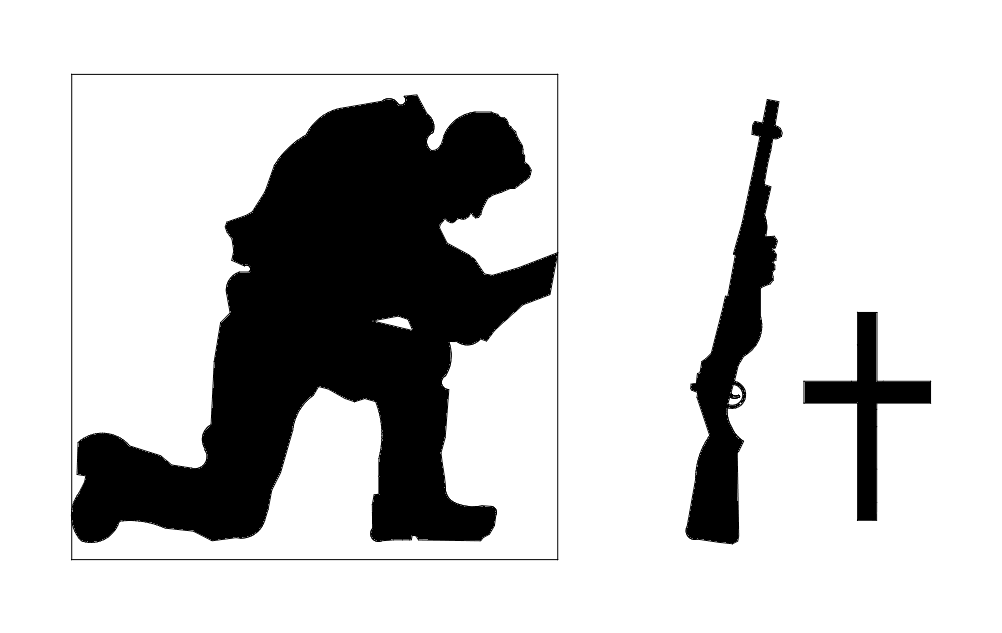 Praying Soldier dxf File