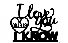 I love you i know dxf File