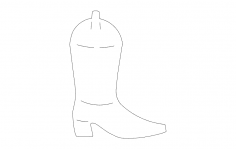 Cowboy boots dxf File