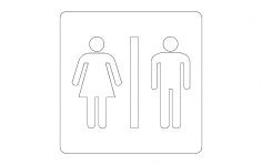 Bathroom sign dxf File