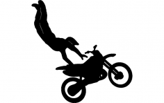 Motorcycle Stunt dxf File