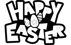 Happy Easter Sign dxf File