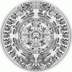 Aztec Calender SVG File