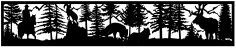 28×144 Horseman Ram Fox Elk Mountains Plasma Art DXF File