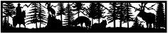28×144 Horseman Ram Fox Elk Mountains Plasma Art DXF File