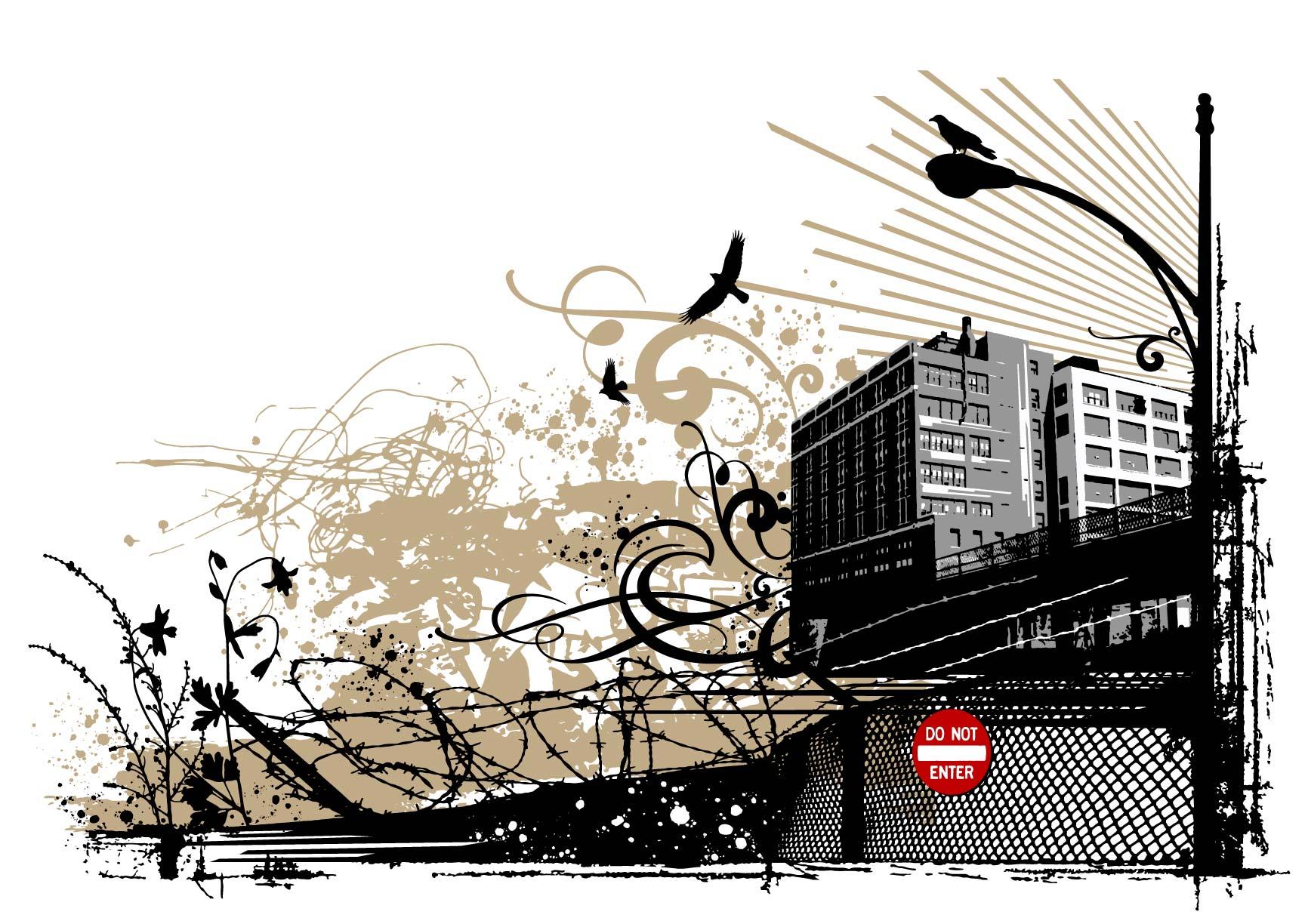 Urban Grunge Free Vector