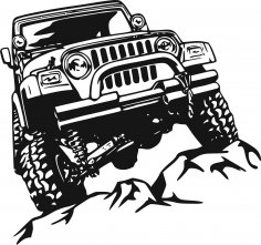 Offroad Sticker Free Vector