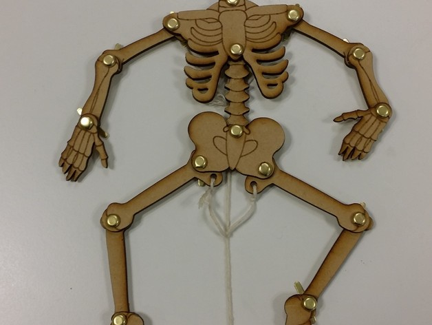 Laser Cut Moving Skeleton DXF File