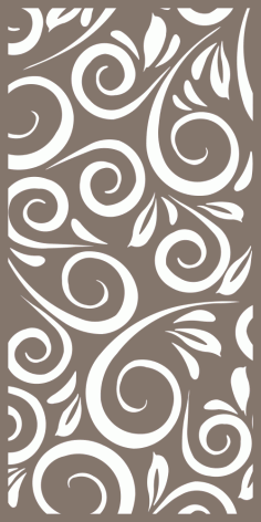 Abstract Floral Decor Pattern Free Vector
